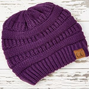 CC Dark Purple Knit Beanie - Women NEW!